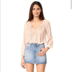 NWT LoveShackFancy Michelle silk blouse